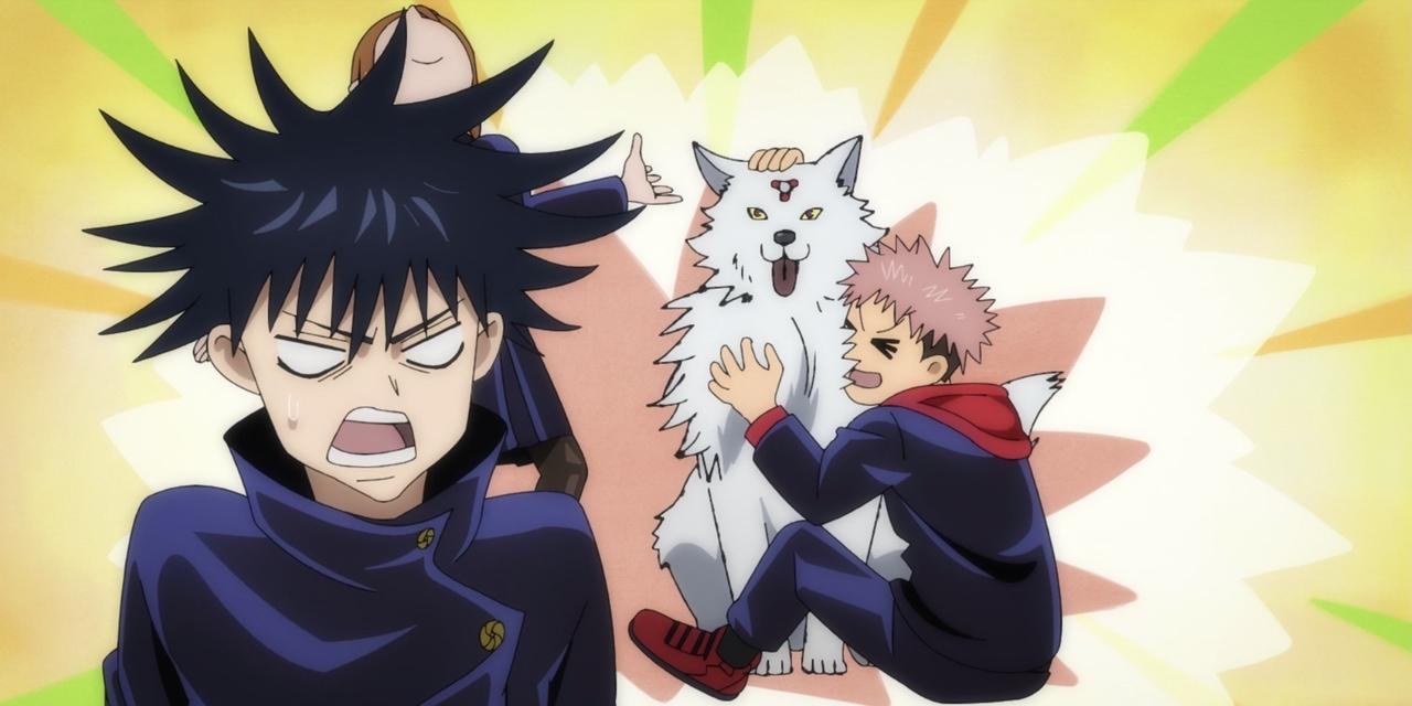 anime, yuji, and megumi image