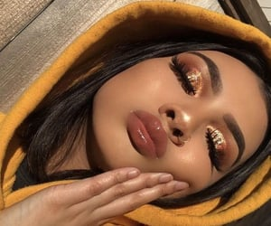 makeup, fall makeup, and fall vibes image