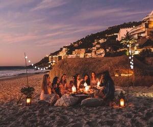 beach, best friend, and girls image