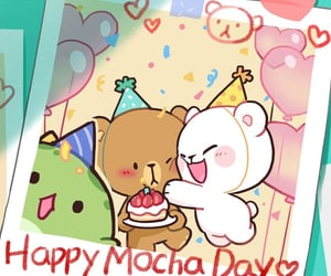 happy birthday, kawaii bear, and chibi animal image