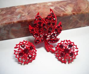 etsy, ruby red, and jewelry set image