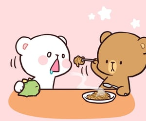 anime food, kawaii bear, and relatable image