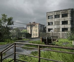 abandoned, buildings, and overgrown image