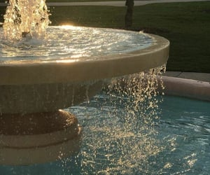 water, fountain, and aesthetic image