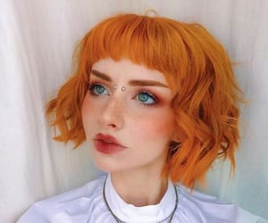 hairstyle, orange hair, and hair inspo image