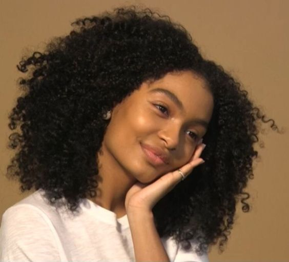 black hair, model, and curly hair image
