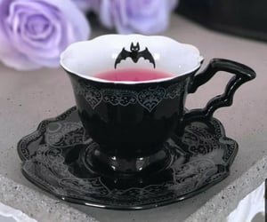 bat, Halloween, and teacup image