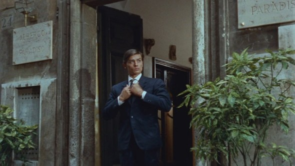 Alain Delon, fashion, and purple noon image