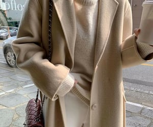 autumn, coat, and style image
