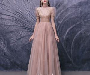 fashion, prom dress, and puffy sleeves image