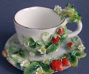 aesthetic, frog, and mug image