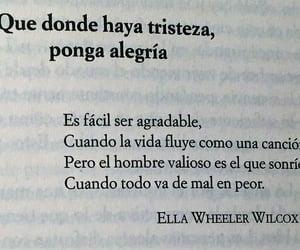 vida, frases en español, and ella wheeler wilcox image