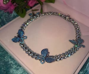 butterfly, icy, and butterfly necklace image