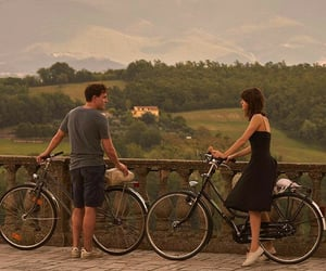 bicycle, couple, and love image