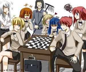 school, umineko no naku koro ni, and ange ushiromiya image