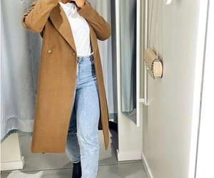 long jacket, trench jacket, and tan jacket image