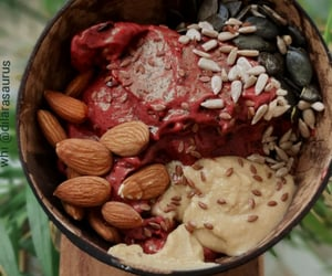 food, healthy, and smoothie bowl image