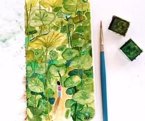 forest, sketchbook, and art image