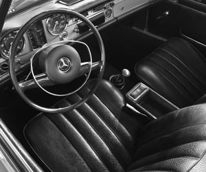 b&w, black and white, and car image