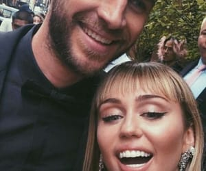 black, liamhemsworth, and mileycyrus image