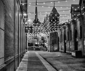 black and white, city scene, and landscape photo image
