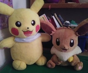 eevee, toys, and pikachu image
