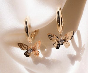 butterfly, jewelry, and earrings image