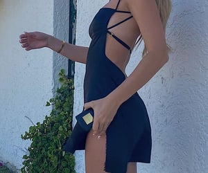 backless dress, everyday look, and classy glam image
