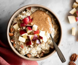 apple, breakfast, and oatmeal image