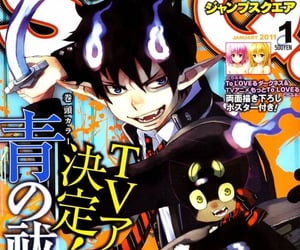 anime, demon, and magazine image