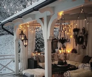 light, winter, and home image