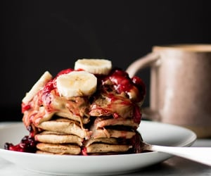 banana, brown rice, and berry compote image