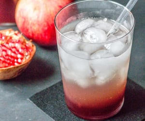pomegranate, lime juice, and grenadine syrup image