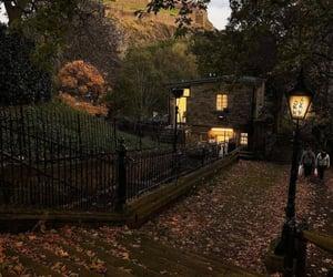 autumn, scotland, and edinburg image