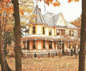 autumn, house, and porch image