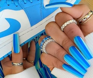 blue, nails, and 💙 image