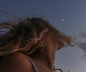 sky, girl, and aesthetic image