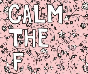 pink, words, and calm image