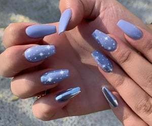 beauty, blue, and hand image