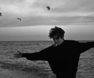 boy, black and white, and aesthetic image