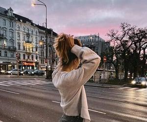 autumn, cardigan, and city image