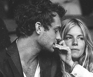 couple, jude law, and sienna miller image