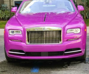 cars, pink, and automobiles image