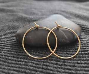 etsy, fashion, and gold hoop earrings image
