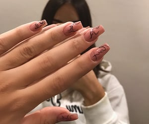 aesthetic, nails, and outfit image