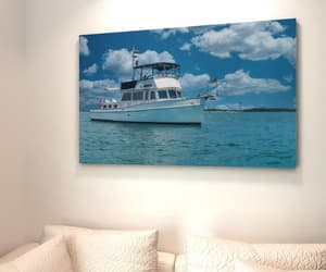 etsy, ocean art, and boat canvas image