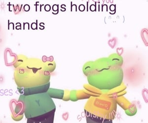 frog, couple, and meme image