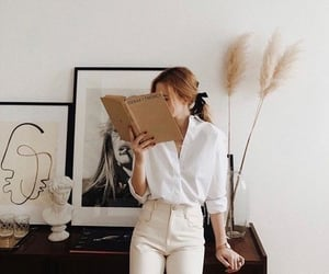 blonde, book, and girl image