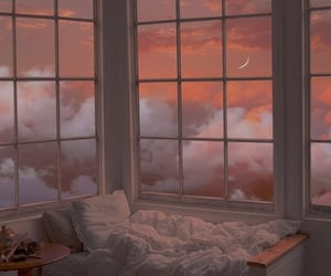 sky, bed, and clouds image