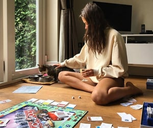 board games, cat, and monopoly image